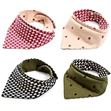 Pet Heroic 2Pcs-4Styles Pet Dog Bandana Triangle Reversible Bibs Scarf Pet Dog Kerchief Neckerchief Set Accessories Suitable for Small&Medium&Large Pet Dog