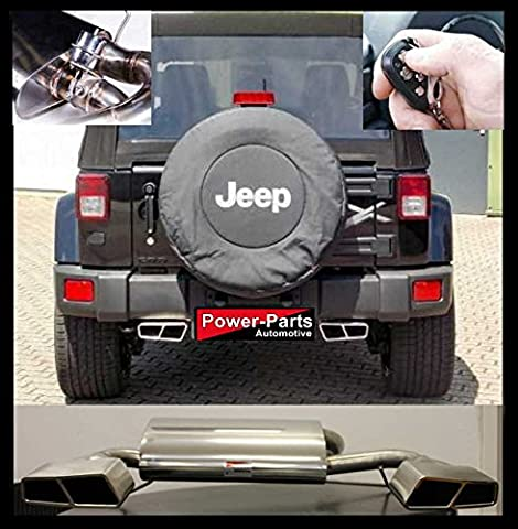 '(with TÜV) Flaps Sports Double Exhaust Silencer Racing Jeep Wrangler JK 3.8Litres' 07- 17with EU Betriebserlaubsnis Abe,