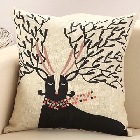 Yifom Cervi cuscino cuscino divano cuscini stampati con semplicità-core (Deer Coperta Del Tiro)