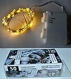 50er Mikro LED Lichterkettekette für Innen und Außen Baumkette LED Christbaumkette Tannenbaumkette Weihnachtsbaumkette