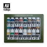 Vallejo 070142 Farbset, Mittelalterliche Farben, 16 x 17 ml