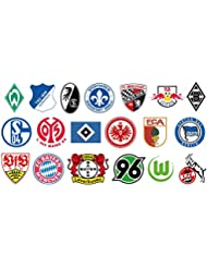 Pack 18 Bundesliga Allemagne league autocollants