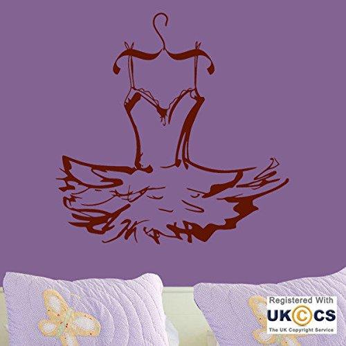 -Kleid Ballerina Mädchen-Wand-Kunst-Aufkleber-Abziehbild-Vinyl Raum Schlafzimmer Junge Mädchen Kinder Erwachsene Heim Wohnzimmer Zitate Küche Badezimmer Accessoires Mural (Junge Tanz Kostüme)