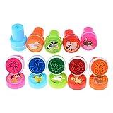 10 Stück/Satz Stempel Spielzeug Selbstfärbend Kinder Stempel Animal Muster Stempel