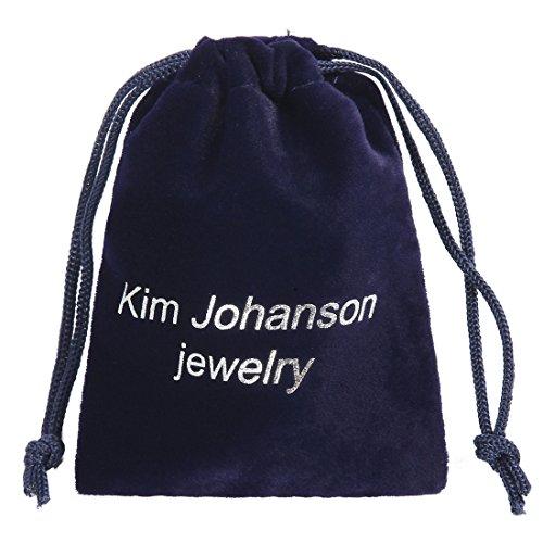 """Kim Johanson Damen Ohrringe """"Saphir"""" Herz Lila mit Zirkonia aus 925 Sterling Silber inkl. Geschenkverpackung - 6"""