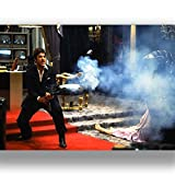 Box Prints Scarface Tony Montana Film Film Vintage Retro-Stil Leinwand Wand Kunstdruck Bild groß Klein