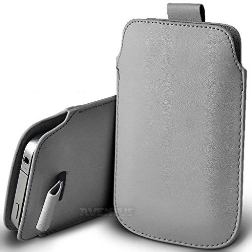 Aventus (Nero) Apple Iphone 6 / Iphone 6s Custodia Protettiva Pull Tab Cord in Finta Pelle per Cellulare Rimovibile con Cucita Banda Estraibile Grigio