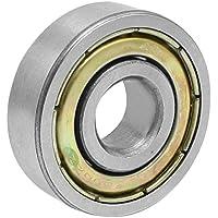 Rodamiento rigido de bolas - SODIAL(R) 6200ZZ 2 Rodamiento rigido de bolas de metal de 10mm x 30mm x 9mm