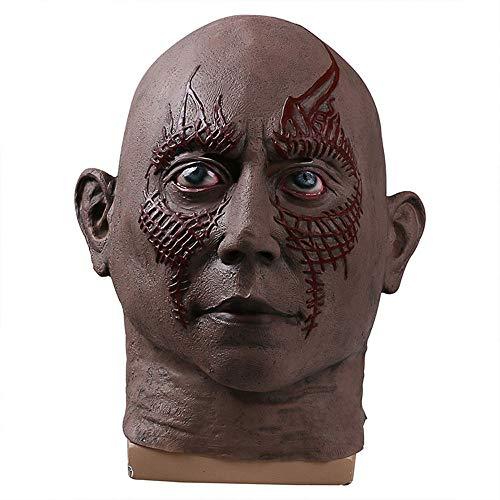 alaxie 2 Drax Die Zerstörer Maske Stern-Lord-Baum Halloween-Kopfbedeckungen Requisiten COS ()