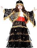 VENEZIANO Costume di Carnevale da ZINGARA Ricca Baby Vestito per Bambina Ragazza 1-6 Anni Travestimento Halloween Cosplay Festa Party 8920 Taglia 6