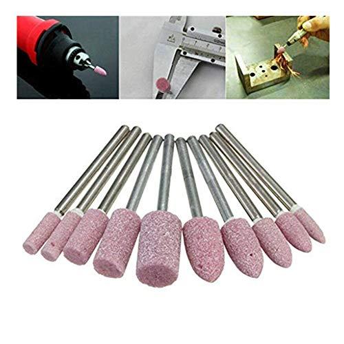 kopf,Polierwerkzeug Für Polierbürste Mit 10-Teiligem Schleifkopf Werkzeug Für Polierbürstenlinie Haushaltswerkzeuge,Rot ()