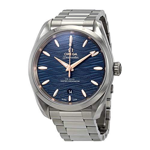 Montre Omega Seamaster Aqua Terra Co-axial Master Chronomètre Automatique Cadran Bleu pour Femme 220.10.38.20.03.002