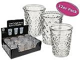 itsisa Teelichtglas für Kerzen 12er Set - Windlicht, Teelichthalter, Dekoration Hochzeit
