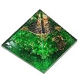 Peridot Grün Orgonit Pyramid/Reiki Crytsal Pyramiden zur Heilung und Chakra Home Dekoration 65mm mit Tasche