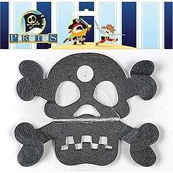 Guirnalda con diseño de calavera pirata.