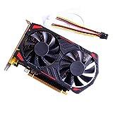 Swiftswan Grafikkarte, GTX750Ti GDDR5 4GB 128bit Gaming Grafikkarte Grafikkarte mit Lüfter für NVIDIA