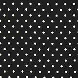 Fabulous Fabrics Blusenstoff Chiffon Crash – schwarz — Meterware ab 0,5m — zum Nähen von Bekleidung