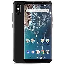 """Xiaomi Mi A2 Smartphones 5.99""""Pantalla Full HD 4 GB RAM + 64 GB ROM Snapdragon 660 Octa Core SIM Dual 20MP Frontal + 20MP 12MP Dual Cámara Trasera Móviles Teléfono Negro(2018 más Nuevo)"""