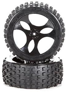 Carson 500900095: 1 - 5 de neumático / llanta Establecer Ataque Dirt, Accesorios Modelo, 2 Piezas, Negro