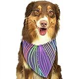 Osmykqe Hund Bandanas helle Bunte Blätter einstellbar Hundehalsband Katze Schal Welpen Bandans Pet Zubehör
