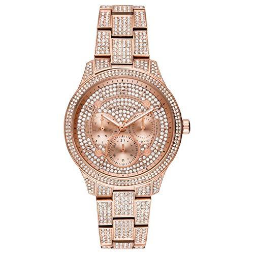 Michael Kors Damen Analog Quarz Uhr mit Edelstahl Armband MK6628