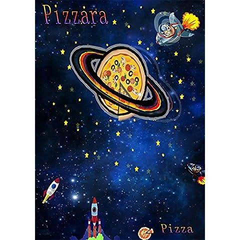 Genérico Pizza di ffondo 551702Cielo notturno di sfondo fotografia di (Increspato Tela)