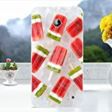 Softlyfit Embossed TPU Cell Phone Shell für Nokia Lumia 630 / 630 Dual SIM / Lumia 635 - Watermelon Popsicles