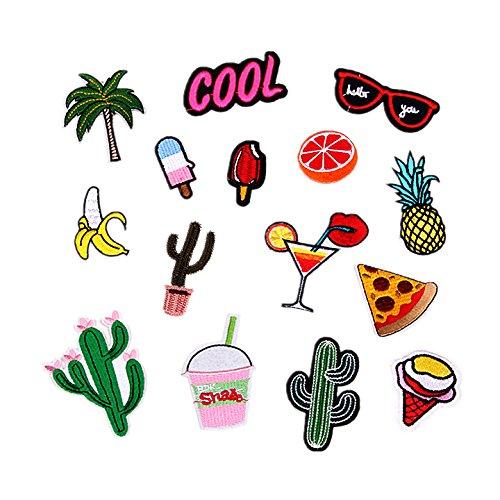 sinto-15-pz-divertente-carina-fai-da-te-vestiti-patch-adesivi-fumetto-banana-cactus-orange-patch-per