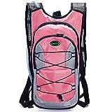Juboury Hydration Rucksack Tasche mit gratis 2l Wasserblase für Laufen, Wandern, Radfahren, alle Outdoor-Sportarten, rose