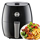 Netta Air Fryer Oil Free with Adjustable Temperature Control and Timer ,3.5L Black