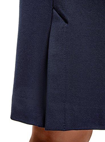 oodji Ultra Damen Bleistiftrock mit Elastischem Bund Blau (7900N)
