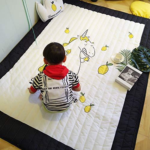 Juego de niños alfombra de algodón linda de dibujos animados bebé escalada estera colchoneta de juego mesa de café mesa de centro estera puede ser lavada a máquina estera de algodón de seda 150 * 200