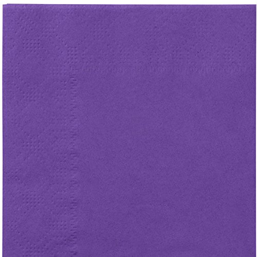 Thali Outlet - 125 x Purple 2 Ply 33cm 4 Fold Paper Napkins Tissue Serviettes For Birthdays Weddings Parties All Occasions by Thali Outlet Leeds