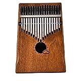 17 teclas de kimmba caoba portátil, pulgar, piano, con, instrucción, y, melodía, martillo, educación, juguete, instrumento musical, para, amante de la música, y, principiante