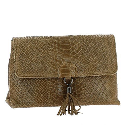Dupond Durand Sac en Cuir Smule, python taupe