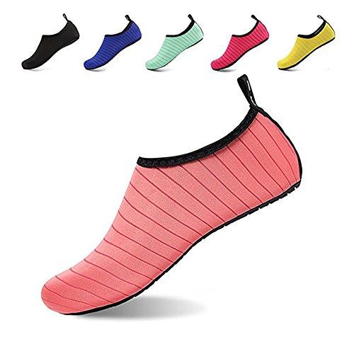 kafiGC8 Männer Frauen Streifentauchen Schwimmen Strandsocken Yoga Fitness Anti-Rutsch-Haut Schuhe Blau 34/35 (New 1 Balance Schuhe Boys-größe Von)