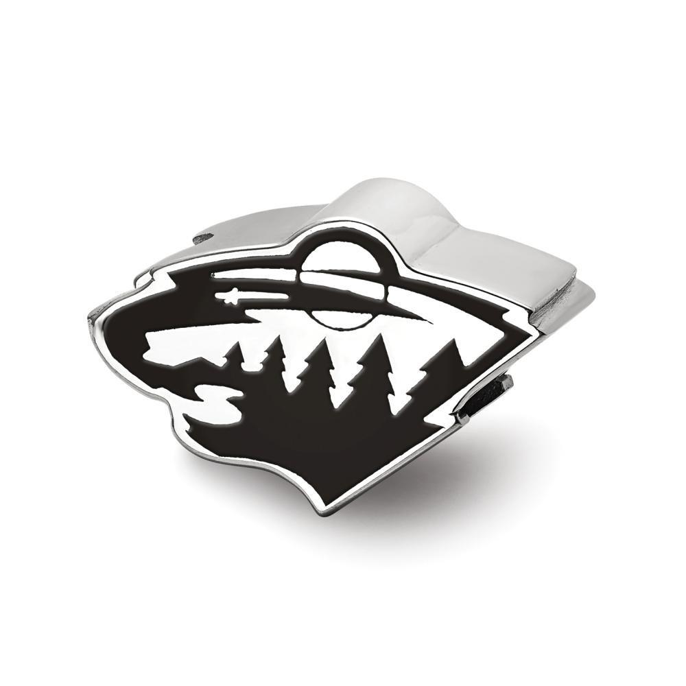 Logoart Minnesota Wild Wild Head smaltato logo Bead charm
