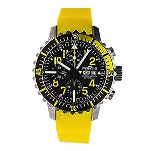 Fortis Herren-Armbanduhr B-42 Marinemaster Chronograph Yellow Datum Analog Automatik 671.24.14 SI.04