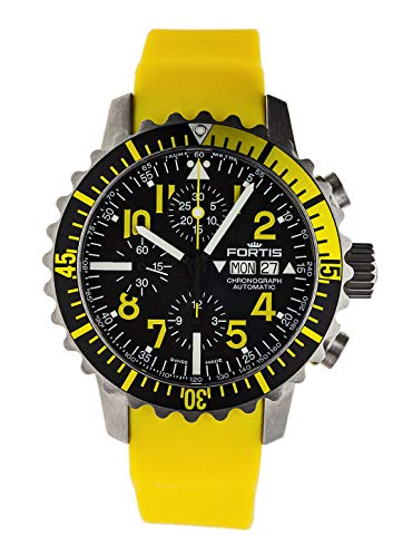 Reloj de Pulsera Fortis B-42 Marinemaster con cronógrafo Amarillo con Fecha analógica automática 671.24.14 SI.04