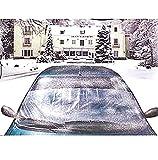 Nerd Clear Windschutzscheiben-Abdeckung Winterabdeckung Anti-Frost Frontscheibe Autoscheiben-Abdeckung PKW Saugnäpfe Kunststoff 200 x 50 cm