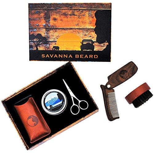 SAVANNA BEARD Grooming Beard Kit - 100% Pure Boar Bristle