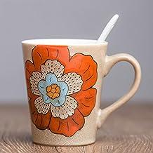 YX.LLA Tasse de café tasses en céramique bol d'eau des Fleurs Accueil Personnaliser Mug,Mr Wong Cup