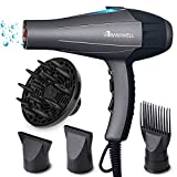 Best Hair Dryer Curly Hairs - Basuwell Hairdryer Professional Ionic Hair Dryer 2100W AC Review