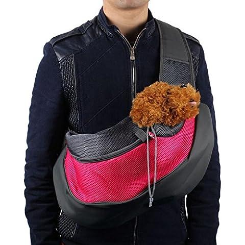 Sannysis® Gatto del cane del cucciolo Carrier Mesh Viaggi Tote Bag Sling Backpack