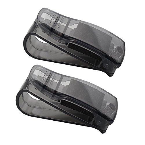 Fushengda 2KFZ Brillenhalterung, Sonne Visier Clip Brillen Halter, Sonnenbrille Halter mit Ticket Karte Clip Auto Fahrzeug Zubehör