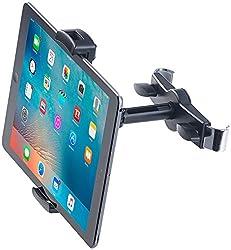 """Lescars Kopfstützenhalterung: Universal-360°-Kopfstützen-Halterung für Tablet-PCs & iPads bis 12,9"""" (Tablethalter Auto)"""