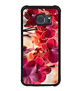 Fuson Designer Back Case Cover for Samsung Galaxy S6 Edge :: Samsung Galaxy S6 Edge G925 :: Samsung Galaxy S6 Edge G925I G9250 G925A G925F G925Fq G925K G925L G925S G925T (Red Flowers Beautiful Flowers LOvely Flowers Natural Flowers Flower Twigs)