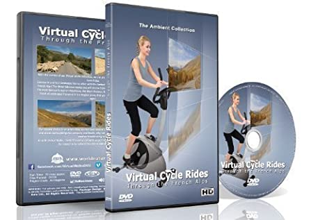 Virtual Cycle Rides - Bike Through the French Alps - for indoor cycling, treadmill and running workouts