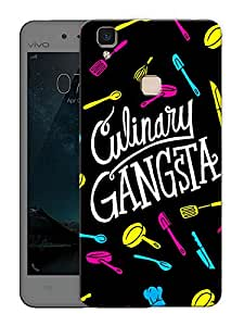 "Humor Gang Culinary Gangsta Printed Designer Mobile Back Cover For ""Vivo V3 Max"" (3D, Matte Finish, Premium Quality, Protective Snap On Slim Hard Phone Case, Multi Color)"