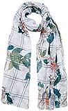 Desigual Damen Schal Foulard_Rectangle Troy, Weiß (Blanco 1000), One Size (Herstellergröße: U)